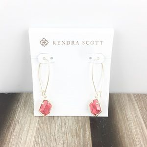 Kendra Scott Ellington bronze veined red earrings